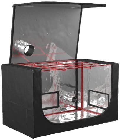 black orchid grow tent box